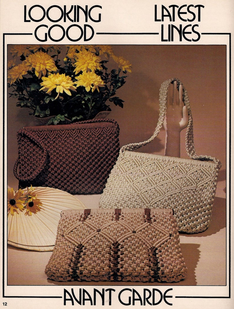 Patterns and Instructions Vintage Macrame Purse News 2 Craft Book