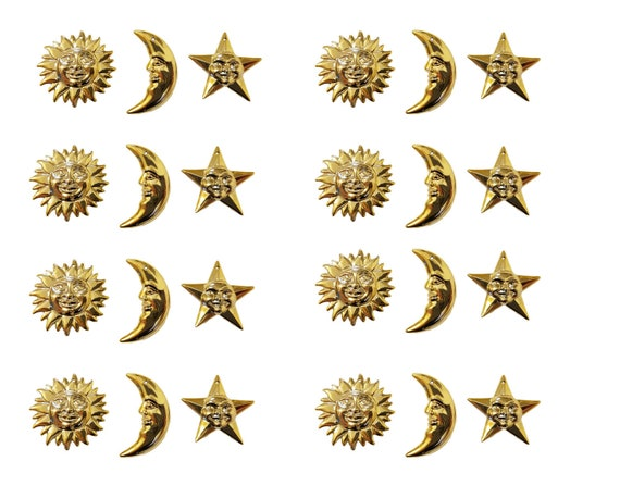 24 pcs North Star Silver Plastic Craft Charms Christmas Accents Embellishments