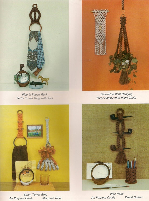 Craft Book #GM2 Macrame with a Purpose Vintage Paper Holder Pattern