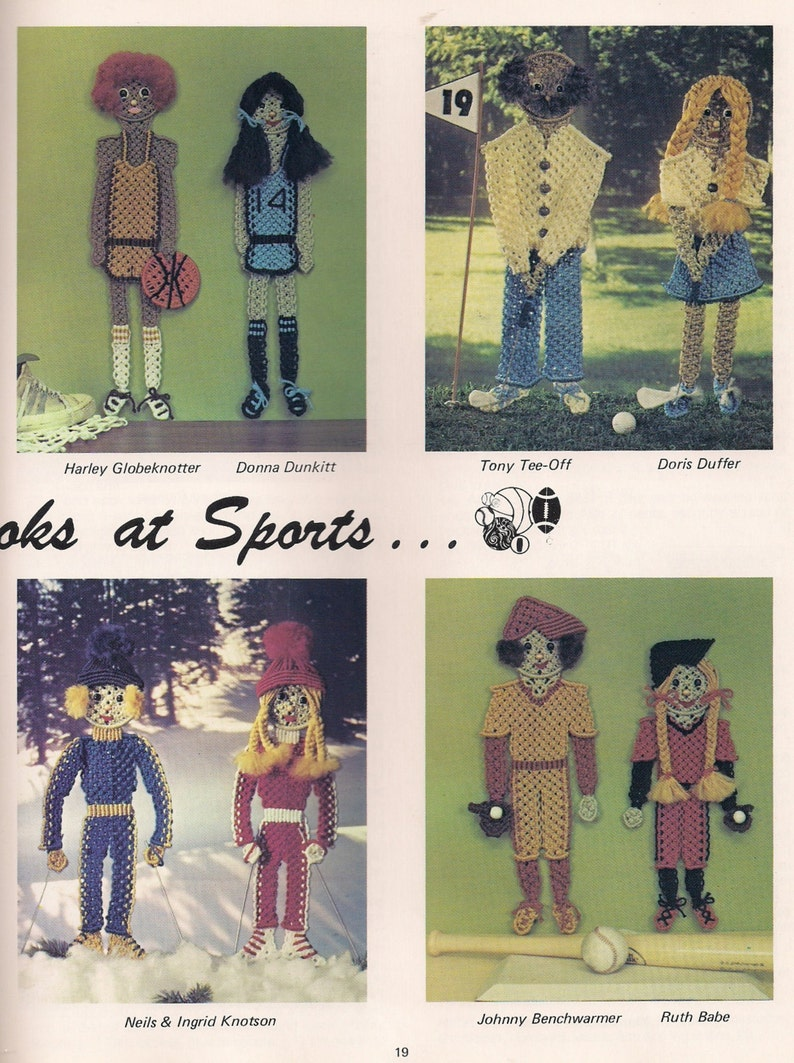 Vintage The Second String Macrame Sports Craft book with patterns and instructions