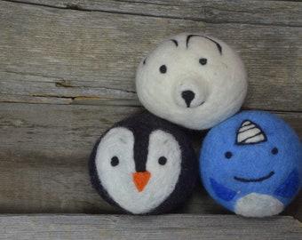 Dryer Balls - XL Durable Wool Dryer Balls-Winter Friends Dryer Balls