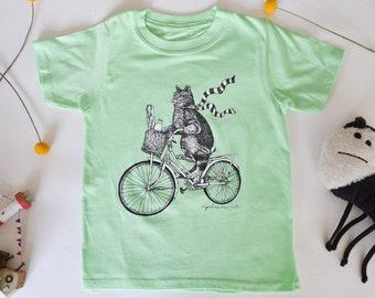 Personalised Cat Initials Pocket Girls Children/'s Kids T Shirts T-Shirt Top