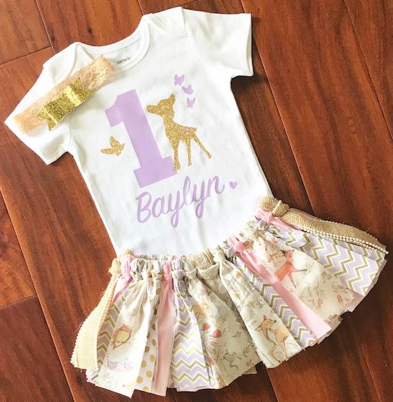 Baby Girls Minnie Mouse Chevron pink//Purple 1st Birthday Tutu Outfit Dress Set