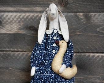 Handmade Bunny-Easter Bunny-Easter Decorations-Primitive Easter