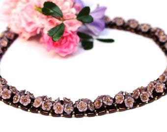 "Necklace ""Sweety"" Flowers classic Elegant"