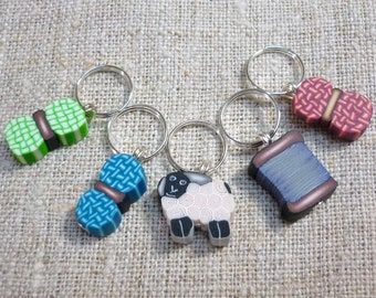 Stitch Markers for Crochet Knitting Sheep Ewe Wool Balls Knitting notions Anneaux Marqueurs tricot