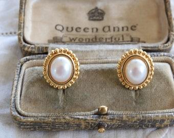 Vintage 1970s Monet Tassel Chain Dangle Earrings Gold Tone Flower Shoulder Duster 2 14