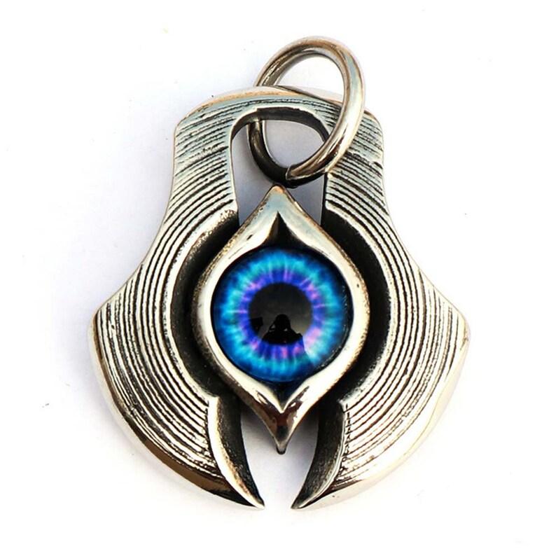 Stainless Steel Evil eye  Pendants men Charms