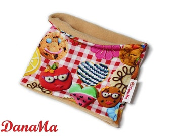 Children Loop COOKIE hose scarf with cookies, biscuits, gingerbread, neck sock, hatching scarf Sweets Candys