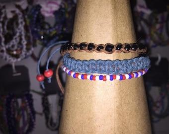 Red White and Blue Bracelet Set