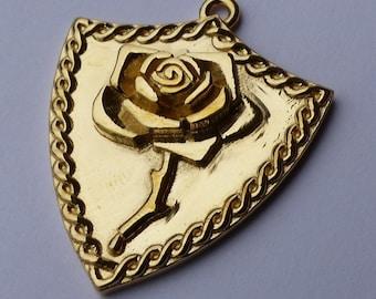 Bleeding Rose Shield Necklace