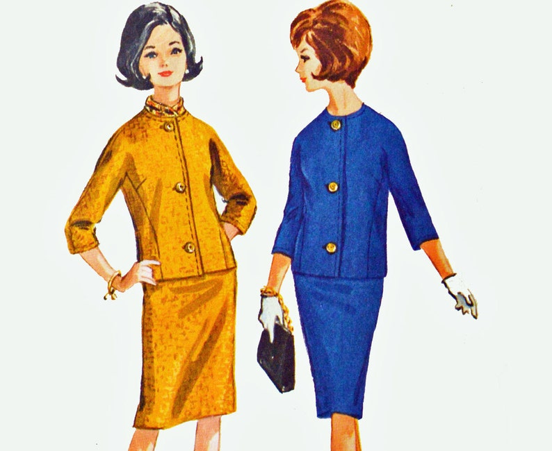 0e77c6eae8 60s Skirt Suit Pattern / McCalls 7116 Junior Petite Suit | Etsy