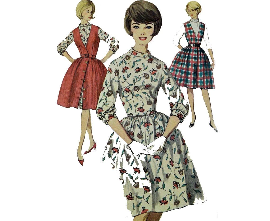 Vintage años 60 vestido patrón falda vestido JUMPER patrón | Etsy