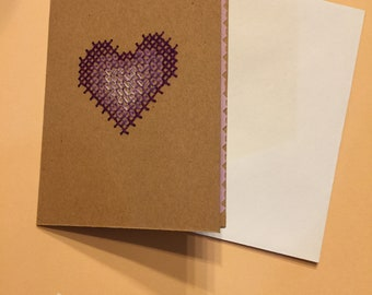 Purle Ombre Heart Card