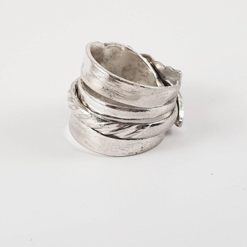 Silberne Gabel Ring Schmuck Besteck Etsy