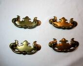 Vintage Brass Drawer Pulls Chippendale Handles Set of 4 DIY Restoration Projects