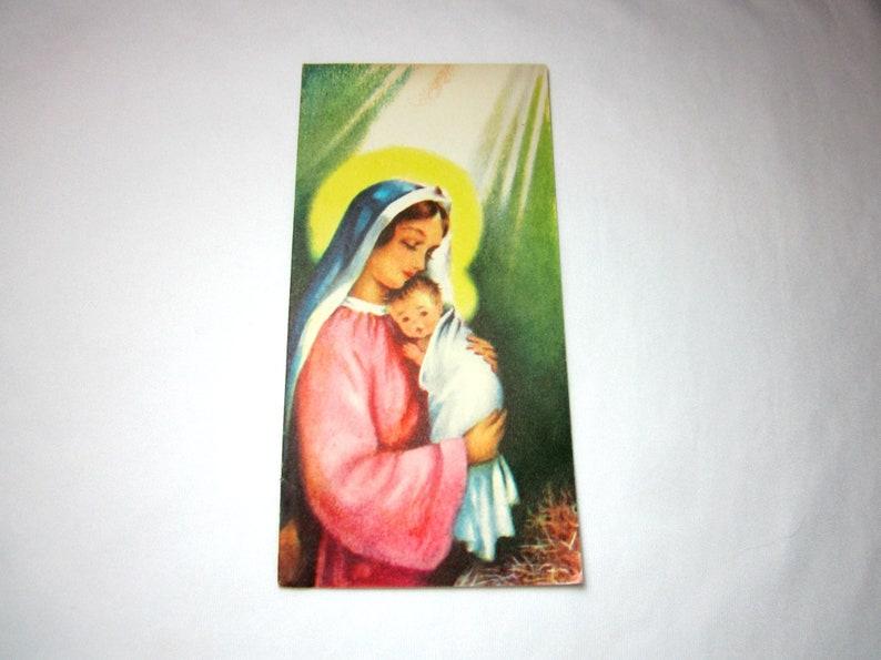 Ephemera Old Christmas Cards Used Religious Decoupage Arts And Etsy