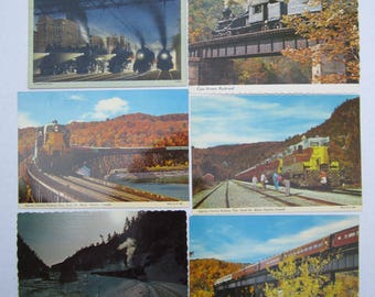 Locomotive Post Cards Old Train Cards Vintage Variety Pack Souvenirs