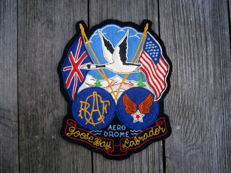 Jacket Patch WWII Memorabilia RAF Royal Air Force Goosebay Rare Collectible
