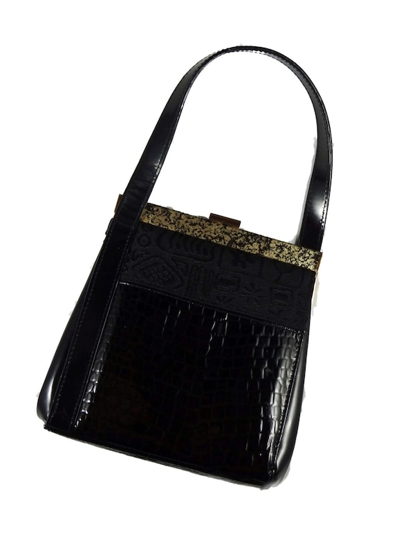 1980s Black Evening Bag