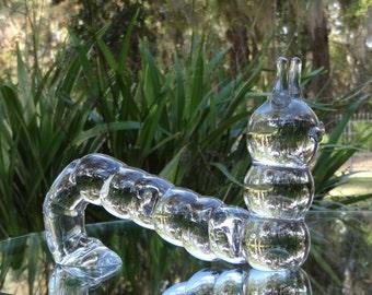 Crystal Caterpillar Figurine