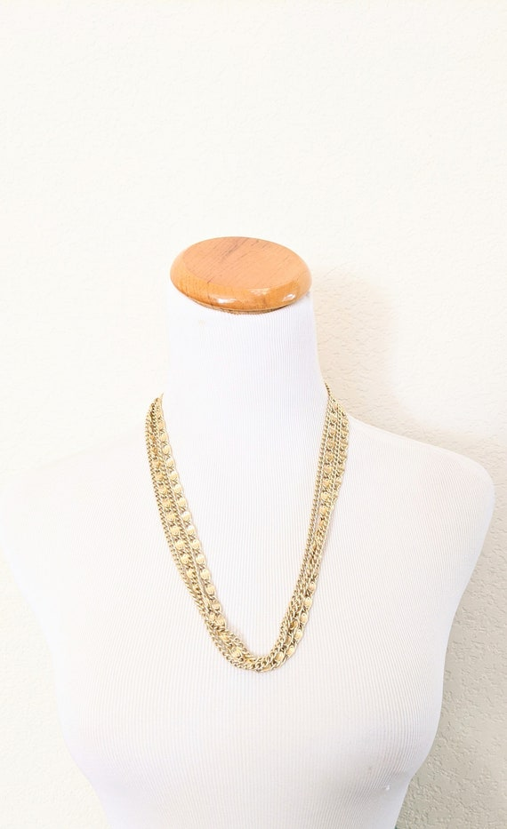 SARAH COVENTRY Tassel Multi Chain Runway Necklace 1970s
