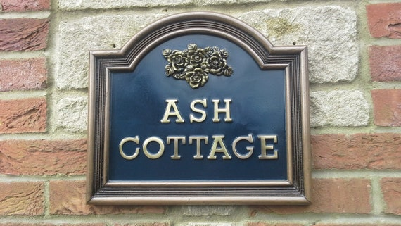House Name Signs.Bronze and pewter finishes.Red Black   Blue  093fcdf12