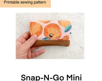 Digital Sewing Pattern PDF, Mini Wallet Sewing Pattern, Snap-N-Go Sewing Pattern,