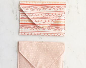Fabric envelopes, Gift Card Holder, Fabric stationary