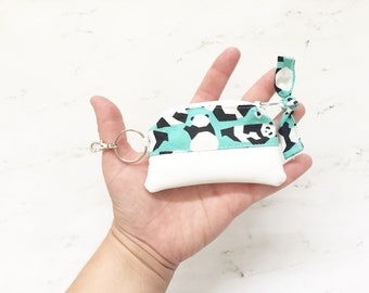 Coin Purse, Chapstick Keychain Pouch, Small Pouch, Stocking Stuffer