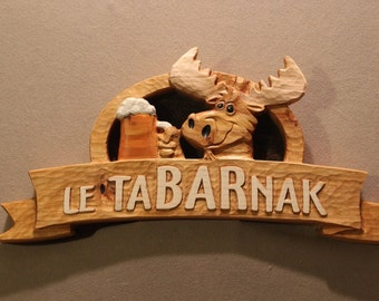 Home Bar Signs | Bar Signs | Custom Carved Wood Signs | Home Signs | Cabin Signs | Cottage Signs | Business Signs