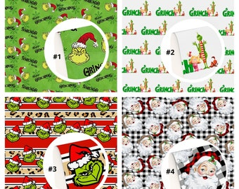 Christmas-Grinch-Santa-MovieFaux Leather Sheets Hair Bow Knot Making Leather Crafts