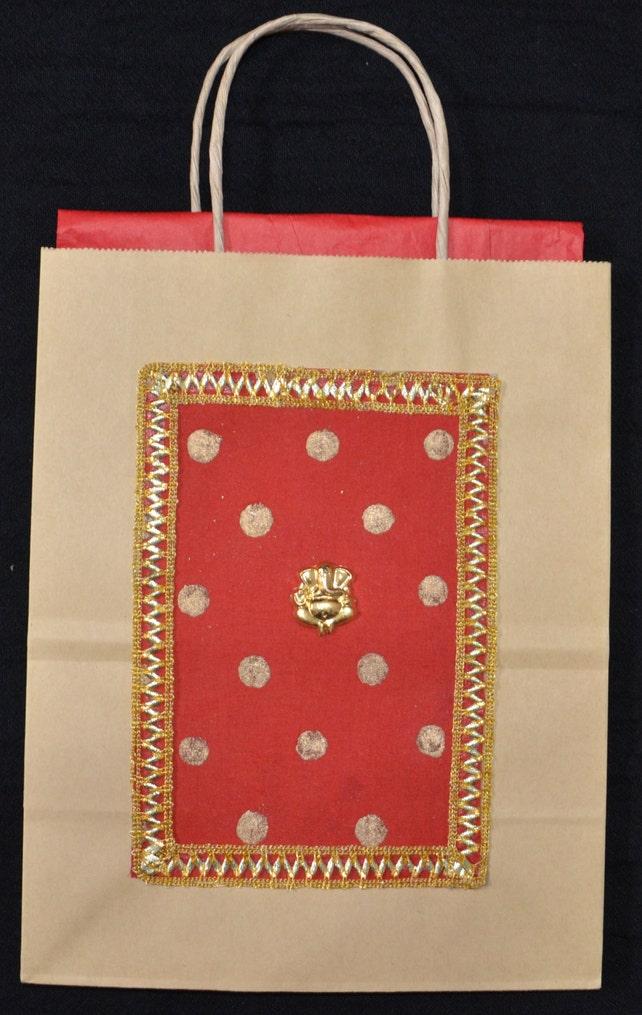 Gift Bags Indian Wedding Gift Bags Kraft Gift Bags Red silk   Etsy