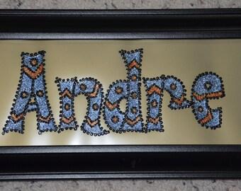 Name Plate, Andre, Handmade Name, Hand painted Name, Christmas gift, Gift for Boys, Birthday gift