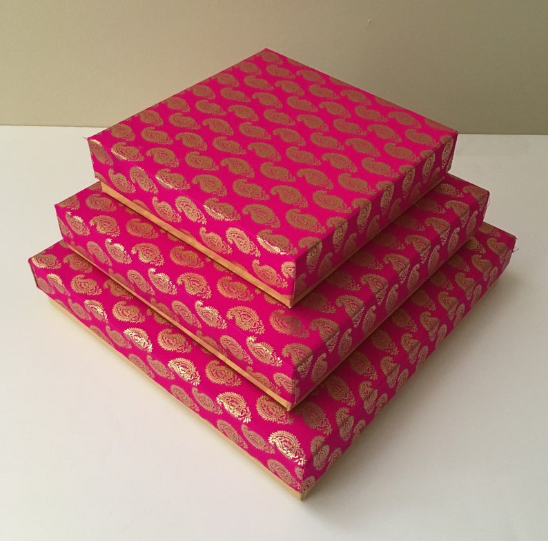 SQUARE GIFT BOXES, Indian weddings, Diwali Gift,Fancy Gift Box,Indian Sweet  or Mithai Box,Party favors,Mehndi & Sangeet gifts,Christmas Gift
