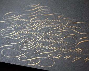 Envelope Calligraphy Addressing : Handwritten modern wedding