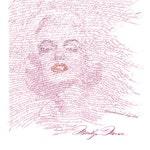 MARILYN MONROE calligraphy fine art print