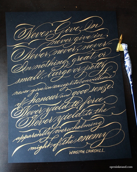 Conjunto de Caligrafía Manuscrito Pluma manuscrito clásico