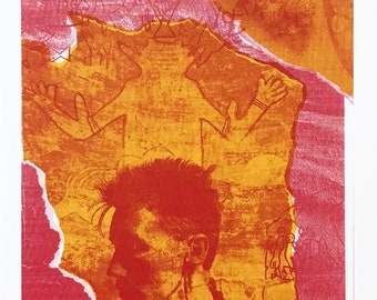 COA Hand Signed Lithograph GallArt Rebecca Baird Measured Along the Ground #4-1999