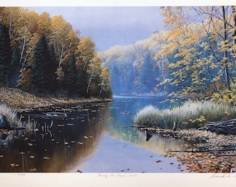 Jake Vandenbrink 'Among The Fallen Leaves' - Hand Signed Print - Nature - Others Available - GallArt