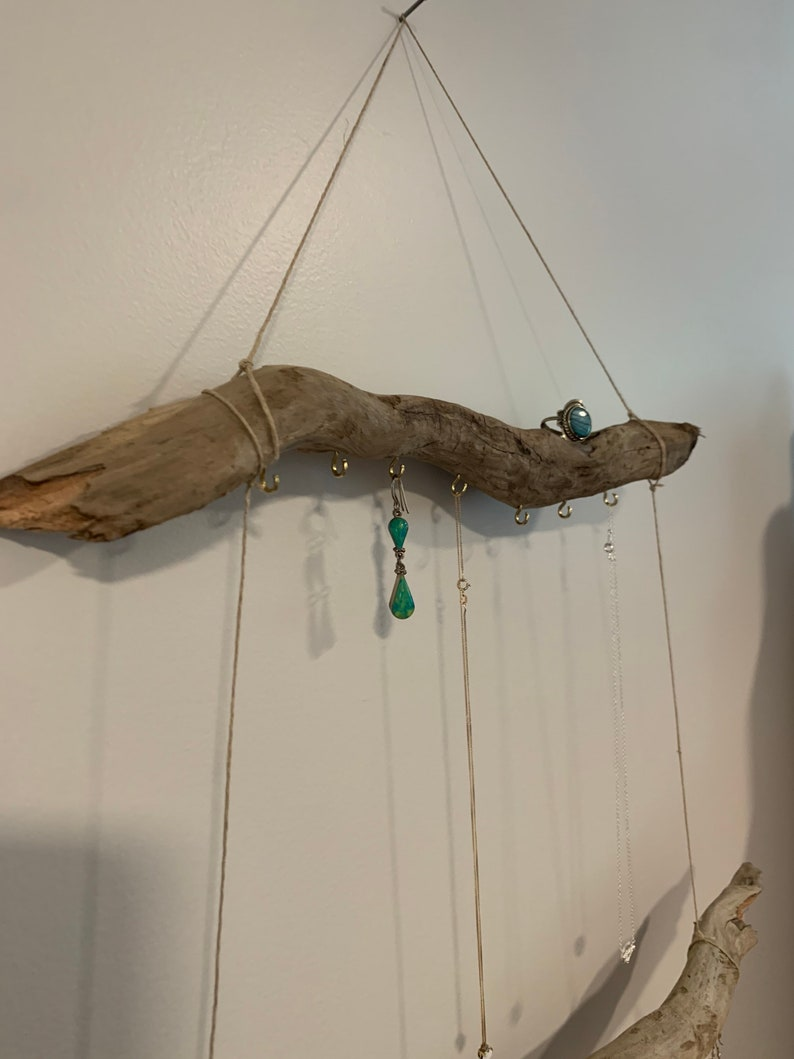 natural necklaces bracelets home decor driftwood earrings rings Wooden Jewelry Display~organize