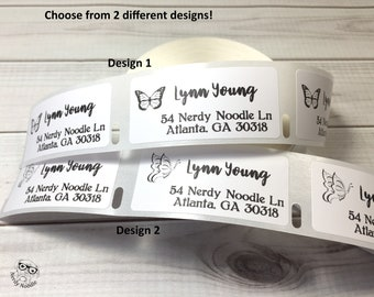 Address Design 50 Butterfly 260 White Designed Labels handmade by