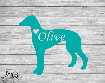 Greyhound Decal, Greyhound Car Decal, Greyhound Laptop Decal, I love my Greyhound Decal - You choose size and color.