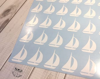 Sailboat Stickers, 80, Sailboat Planner Stickers, Sailboat Sticker Set, Sailboat Envelope Seals, Sailboat Envelope Sticker, Sailboat, boat