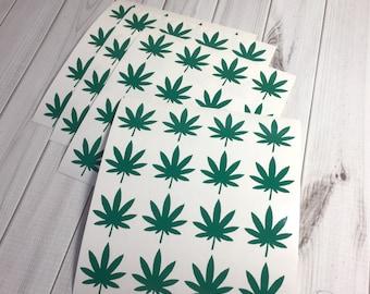 Cannabis Stickers, 100, Cannabis Tanning Stickers, Cannabis Sticker Set, Cannabis Envelope Seals, Cannabis, Marijuana, Pot Leaf, Pot, 420