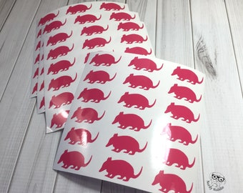 Armadillo Stickers, 108, Armadillo Sticker Set, Armadillo Envelope Seals, Armadillo Envelope Stickers, Armadillo, Scrapbook stickers, party