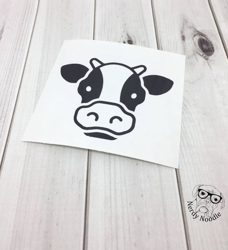 Cow Decal Cow Car Decal Cow Travel Tumbler Decal Cow Mug Etsy
