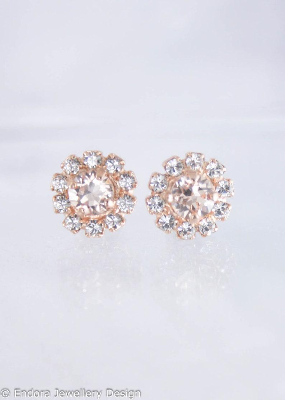 ff77864e9 Mini halo earrings flowergirl earrings flower girl earrings | Etsy