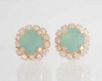 Seaglass,Seaglass wedding,beach wedding,beach wedding jewelry,seaglass earrings,seaglass wedding jewelry,mint earrings,mint beach wedding