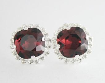 Burgundy earrings,burgundy crystal earrings,marsala earrings,swarovski earrings,swarovski marsala,burgundy wedding,burgundy bridesmaid,wine